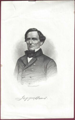 Jefferson Davis Steel Engraving