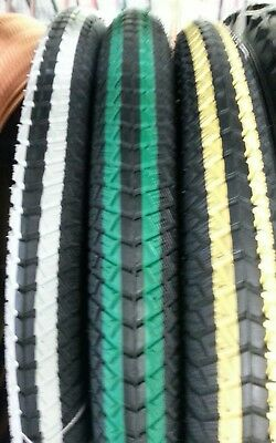 TWO(2) BMX BICYCLE TIRES,20X1.95 (50-406) 40-75 PSI,pick color at checkout