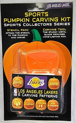 Los Angeles Lakers Halloween Pumpkin Carving Kit New Stencils for Jack-o-latern (Halloween Pumpkin Carving Stencils)