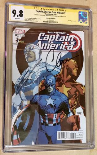 Captain America: Sam Wilson #7 CGC SS 9.8 3x Signed by Chris Evans, Sebastian +