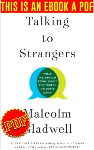 Talking To Strangers-By-Malcolm Gladwell🔥P,D,F🔥Email Delivery♨️