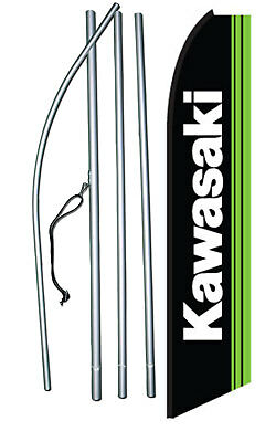 Kawasaki Swooper Feather Flag Pole