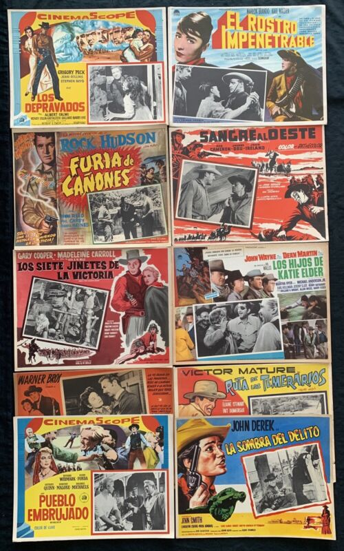 LOBBY CARD WESTERN COLLECTION Henry Fonda Randolph Scott Clint Walker John Agar