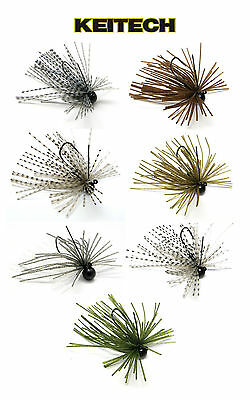 Keitech Tungsten Mono Spin Jig 1/16 Oz. Select Colors Bass Fishing Lure Bait ()