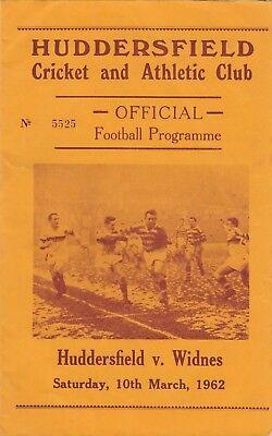 Huddersfield v Widnes 1961/2 (10 Mar)