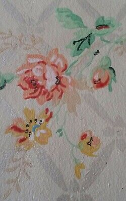 Colored Paper Rolls (VTG 1940's 1950's WALLPAPER CLASSIC Mid Century Delicate Floral Multi Color)