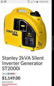 Stanley Generator 2KVA Silent inverter ST2000I Macquarie Fields Campbelltown Area Preview