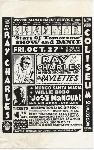 1961 Ray Charles Handbill