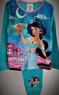 Aladdin Pyjamas Girls Pj's Jasmine Disney Princess Pyjama Set T2TC625