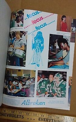 Vintage 1984 Kannapolis A L Brown High School Annual Yearbook North Carolina Nc