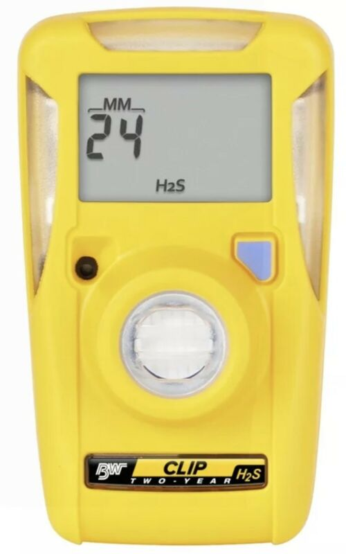 BW Technologies BWC2-H Clip Gas Alert Monitor Single H2S Hydrogen Sulfide