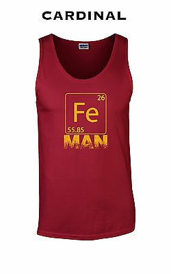 Cool Super Hero Costumes (288 Fe Man Tank Top hip Iron funny chemistry cool college costume super hero)