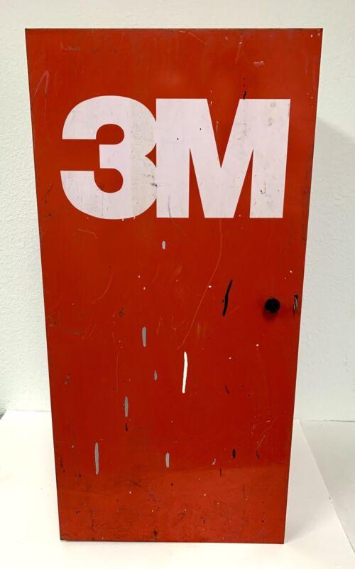 "3M Red Metal Cabinet 30"" Tall Tool Garage Storage Wall Hanging Box"