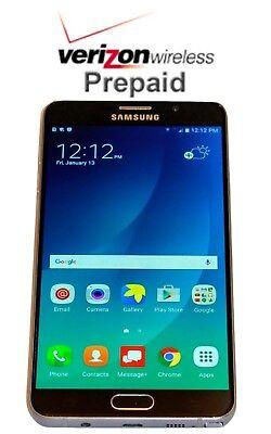 Unlocked Samsung Galaxy Note 5 - 32GB - White No Contract Verizon Prepaid Phone