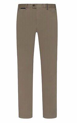 NWT HILTL MEN PEAKER-S TROUSER BROWN COTTON Flat Front Slim Fit SIZE UK 35W /32L