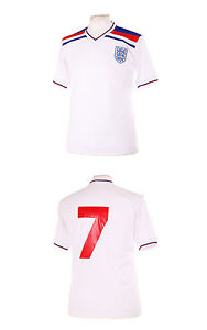 ENGLAND 1982 WORLD CUP STYLE NUMBER 7 KEEGAN RETRO FOOTBALL SHIRT L LARGE