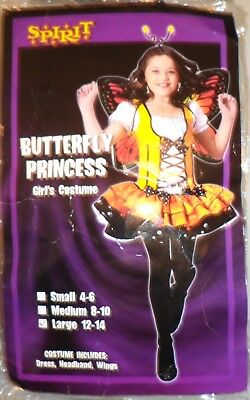 Girl Band Costumes (Spirit Girl's Costume Butterfly Princess 12 - 14 Dress Head Band and)
