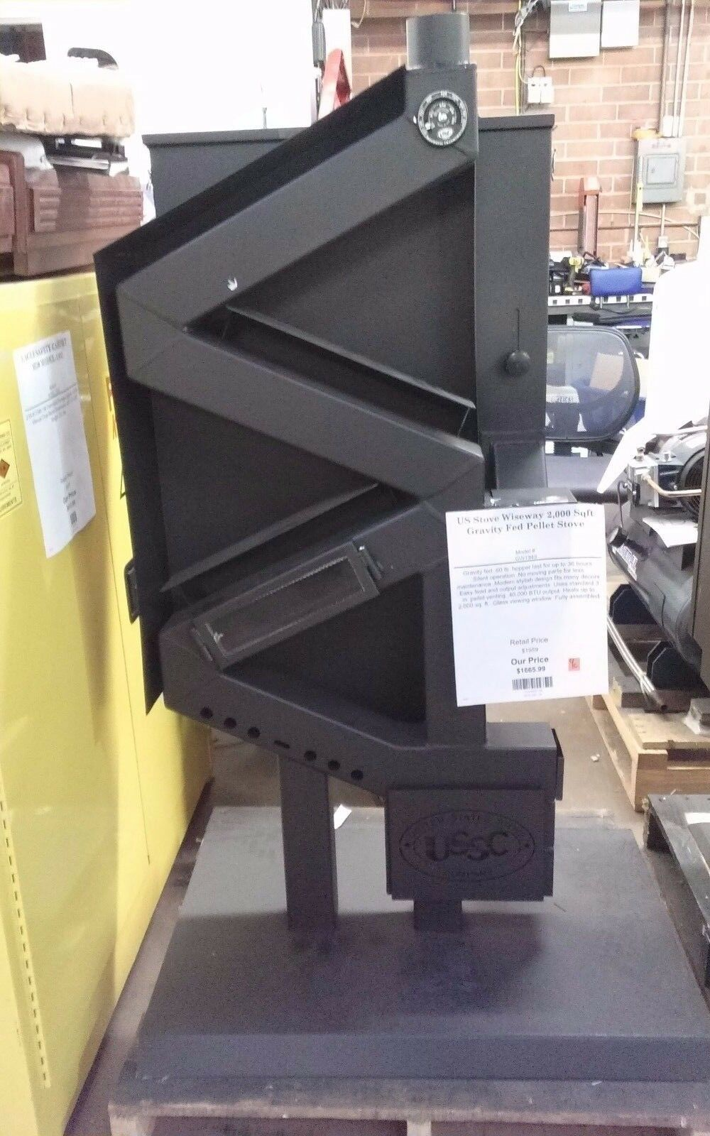 US Stove Company 2000-sq ft Gravity Fed Pellet Stove  GW1949
