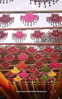 Indio Handmade Gujarati Antiguo Pankhi Abanicos Mano Mayor Boda Decoración 25pc