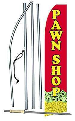 Pawn Shop Flag Flutter Feather Banner Swooper Bundle Kit