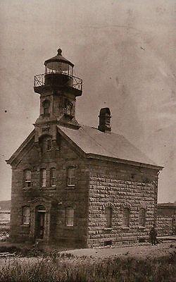 Block Island North Lighthouse Rhode Island c1860 Sandy Point Light RI - Postcard
