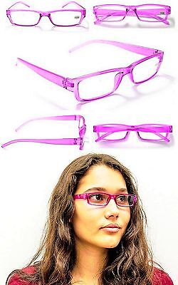 Bargain Basement Fashion Purple Lite Reading Glasses+1.0+1.5+2.0+2.5+3.0 (Buy Fashion Glasses)
