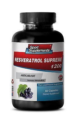 Resveratrol - New Resveratrol 1200mg - Increase Fat Oxidation Supplement 1B