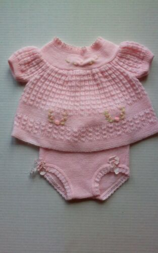 Vintage Infant Pink Knit 2 piece suit   NB Renzo Italy