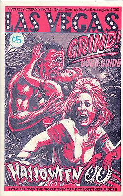 LAS VEGAS GRIND GOGO GUIDE HALLOWEEN 1999 ADZINE WEIRD STRANGE PROGRAM - Programming Halloween