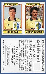 FIGURINA CALCIATORI PANINI 1990/91 - NUOVA/NEW N. 428 BONALDI/... - MODENA - Italia - L'oggetto può essere restituito - Italia