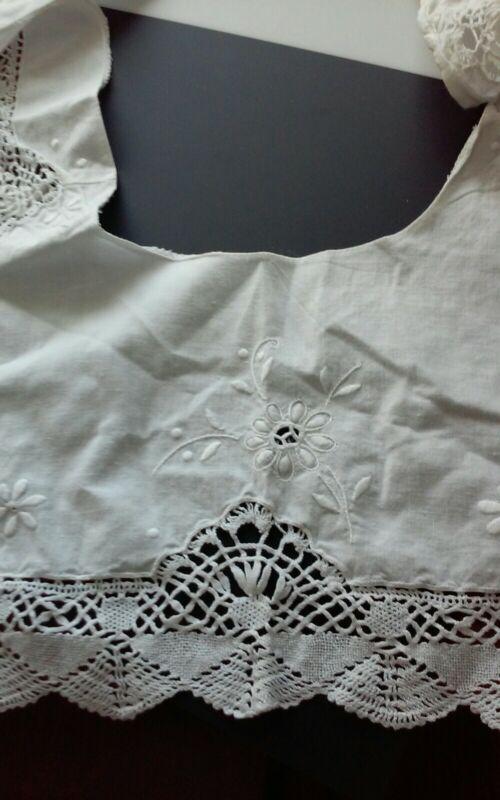 Antique Victorian Style Pilgrim Collar With Lace Edges