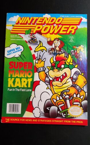 Nintendo Power Magazine October 1992 Volume 41 Super Mario Kart w Poster & Cards