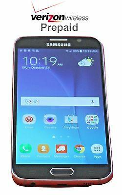 Unlocked Samsung Galaxy S6 - 32GB - Black No Contract Verizon Prepaid Phone CDMA