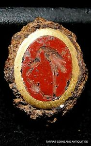 ANCIENT-ROMAN-GOLD-RING-BEZEL-WITH-A-RED-JASPER-INTAGLIO-100-BC-200-AD