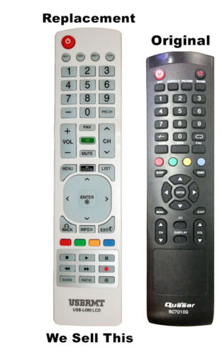 New Usb Universal Remote For Rc7010q For Quasar Tv - Already Programmed