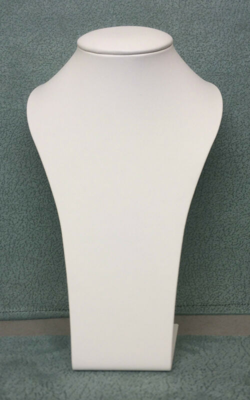 26cm  Upright Jewellery Display Bust (Ivory Leatherette)