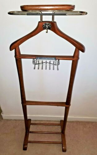 Vintage Wood Valet Stand by Najico Clothes Organizer Hanger Closet Japan70