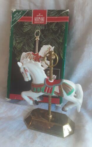 HALLMARK KEEPSAKE CHRISTMAS ORNAMENT HORSE CAROUSEL VINTAGE TOBIN FRALEY NIB