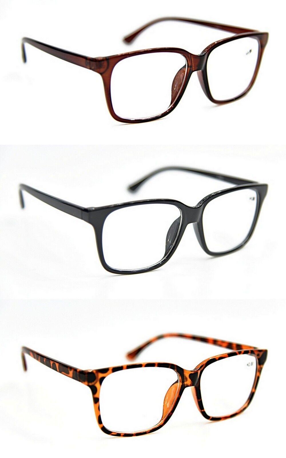 617baad8c97 Bifocal Geek Nerd Unisex Stylish Bold Fashion Reading Glasses +1.0+1.5+2.0  DX2