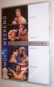 ROCKY 4-Movie Pack DVD Set 1 2 3 4 Balboa Sylvester Stallone Boxing 1-4 NEW