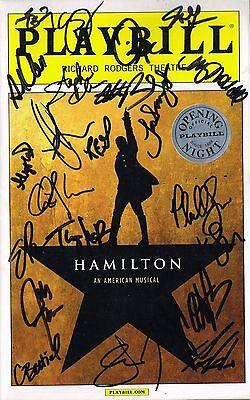Hamilton Original Cast SIGNED OPENING NIGHT Playbill Lin Manuel Miranda COA