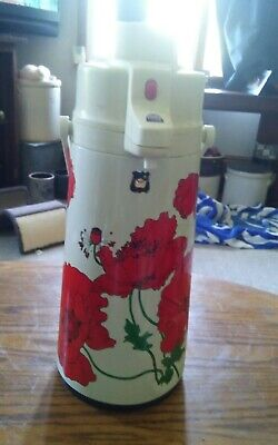 Used, Vintage Red FLower Floral Push Button Coffee Juice Tea Dispenser for sale  Shipping to Nigeria