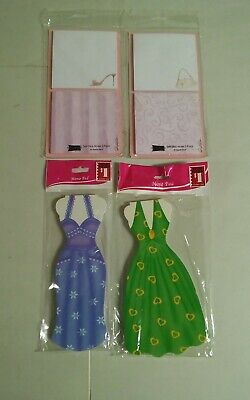 Lot Of 4 Sealed New Note Pads Dress Shape Square Studio 18
