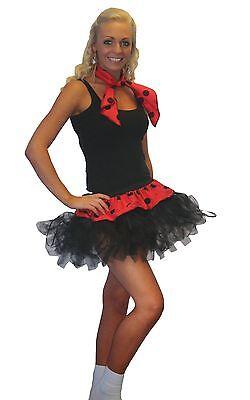 Ladies Rock N Roll Tutu & Neck Tie - Damen Rock N Roll Kostüme