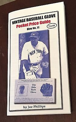 Vintage Baseball Glove Pocket Price Guide Covering Gloves  From 1900 to 2000