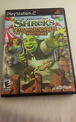 Shrek's Carnival Craze PS2 Playstation 2 Complete Adult Owned Tested And Working - Adult Carnival Games