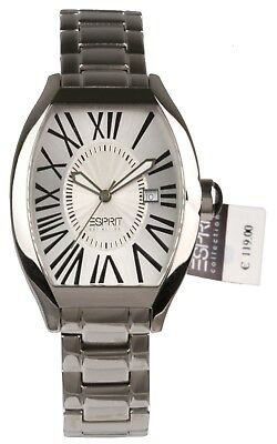Esprit watch analog quarz tonneau case - new - original box