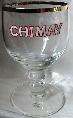 CHIMAY Ale Belgian Beer Footed Stemmed Glass Chalice Trappist Brewery Belgium