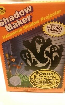 Shadow Maker Projector Halloween Jumbo Slides of Witch & Ghosts - Vintage - Halloween Shadow Projector