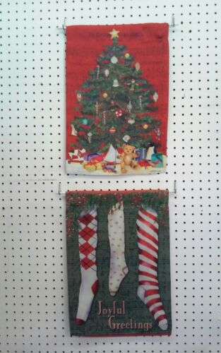 """12""""×18"""" VINTAGE CHRISTMAS DOUBLE SIDED WITH 2 DIFFERENT IMA"""